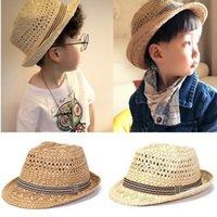 Moda-dokuma geniş kenarlı şapka moda geniş kapak ebeveyn-çocuk vizör dokuma hasır şapka