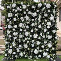 Fiori decorativi Corone 3D Pannelli a fiori artificiali 3D Pannelli bianchi Peonia Avorio Rosa Verde Piante da sposa Sfondo da sposa Corridoni Home Decor GY865