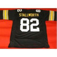 Özel 009 Gençlik Kadın Vintage Özel # 82 John Stallworth Siyah Futbol Forması Boyut S-5XL veya özel herhangi bir isim veya numara forma