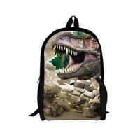 الجوراسية الديناصور ريكس حقيبة مدرسية مخصص نمط الأطفال حقيبة بوي فتاة طالب أكياس الطباعة 3D