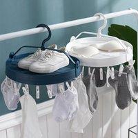 Wäscheservice-Taschen Nordic Faltbare Aufbewahrungsständer Baby-Mantel-Kleiderbügel Trocknungsgestelle Home Organizer Badezimmer Zubehör für Schuhsocken Unterhosen