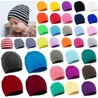 37 Renk Sonbahar ve Kış Bebek Örme Kap Parti Favor Yenidoğan Fetal Şapka Katı Renk Çocuk Örgü Şapkalar Çocuklar Headdress T9i001577