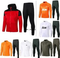 Full Zip Jacket Tracksuit Manchester United man utd Martial Rashford Futebol Jaqueta Sportswear Foot Jogging 2020 21 Pogba Futebol Tracksuit