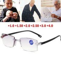 Óculos de leitura de aparamento de diamante sem aro + 1.0 +1,50 +2.0 +2,50 +3.0 +4,0 para homens mulheres idosos óculos de sol