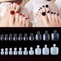False Nails 100pcs Fake Artificial Toe Tips French Foot Acrylic Professional Nail Art Decor Full Cover Toenails Manicure