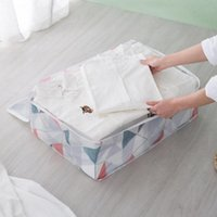 Storage Bags Portable Clothes Bag Folding Closet Organizer Waterproof Moisture-proof Wardrobe For Pillow Quilt Blanket