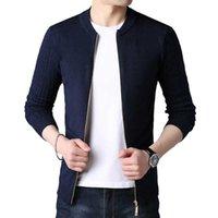 Browon 2021 Cardigan осень осень зима вязаный кардиган для мужчин свитер Slim Fit Свитера мужские пальто Pure Color Gook Cardigan Y1011