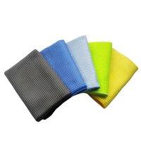 Car Sponge 1PC 300GSM Wash Towel Window Care Microfiber Wax Polishing Detailing Waffle Weave Cloth Drying Auto Glass Accessories