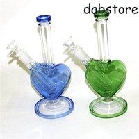 9 inch glass water bong hookahs pink dab oil rigs bubbler tall thick beaker mini waterpipes with 14mm bowl and downstem