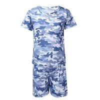 Девочки мальчики унисекс летний дышащий костюм с короткими рукавами камуфляжная печать футболка и шорты набор спортивной одежды для беговых баскетбольных наборов