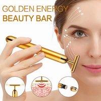 Protable Energy Beauty T Gold Bar Impulsrasting Massagegerät Hautverjüngung Gesichtsrolle-Massagegerät Derma Skincare Falten Entfernung Hochfrequenz Zibrieren