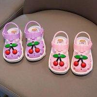 Sandals Infant Baby Girl Shoes Toddler Summer Flats Beach Soft Sole Anti-slip Crib First Walker Fruit Sweet Princess