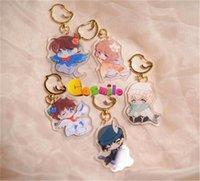 Щечки Cousmile Anime Detective Conan Kudou Shinichi Kaitou Kiddo Miyano Shiho Acrylic Beychain Keyrding Ремень ограниченный косплей подарок