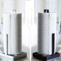 Toilet Paper Holders Metal Kitchen Roll Towel Holder Bathroom Tissue Stand Vertical Napkin Rack Desktop Home Storage Accessories High Qualit