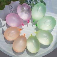 111 unids / bolsa pequeños globos agua bombas de agua colorido inflable waters polo toys de entretenimiento de verano para niños suministros de fiesta de cumpleaños