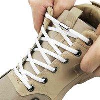 قطع غيار الأحذية إكسسوارات الأحذية أربطة الحذاء 1PAir دون التعادل يفتقر إلى عدم وجود كتلة معدنية خاصة مستديرة يفتقر إلى كسول المرأة السريعة للرجال