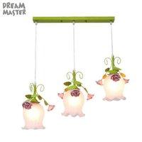 Современный зеленый белый E27 подвесные светильники для кухонной столовой, розовый декор один 3 длинный раунд над островной лампой стеклянной тени света лампы