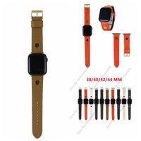 Forma Couro Designer Watchband Smart Straps para Apple Iwatch 38mm 40mm 42mm 44mm com caixa de logotipo embalagem 091016