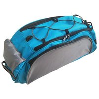Cycling Bags 13L Multifunctional Bicycle Rear Seat Bag Outdoor Trunk Handbag Bike Panniers Mountain Accessories Blue