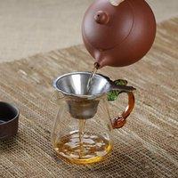 Paslanmaz Çelik Çay Süzgeçleri Aracı Demlik Ev Teas Set Aksesuarları Için Özel İnce Filtre 8.8 * 2 cm DWB6786