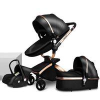 Il passeggino del bambino 3-in-1 può sedersi, bugia, fold, versione da viaggio leggera, macchina per bambini con sedile di sicurezza, passeggino di lusso di alta vista