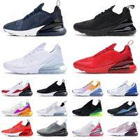 nike air max airmax 270 حذاء رياضي نسائي ثلاثي أحمر أبيض اللون أسود صدأ وردي بالكاد بني وردي مقاس 36-45