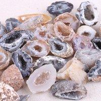 기타 홈 장식 1PC 미니 불규칙한 천연 마노 Geode 크리스탈 돌 Slice DIY 목걸이 만들기 보석에 대 한 기하학적 돌 펜던트 1-3.5cm