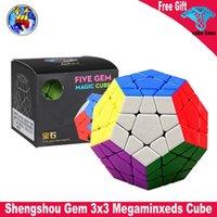 Shengshou جوهرة 3x3 megaminxeds ماجيك مكعب المهنية neo sensou سرعة مكعب 3x3x3 لغز لعب للأطفال كوبو ماجيكو