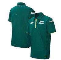 F1 Team Racing Suit Polo Shirt 2021 Poliestere Asciugatura rapida, manica corta a risvolto ventilatore, Same Style Personalizzazione