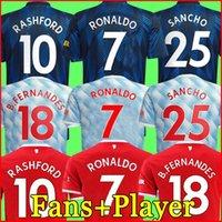 21 22 Ronaldo Sancho Shaw Manchester Soccer Jerseys Fans Spielerversion United Man Bruno Fernandes Varane Martial Utd Rashford Football Hemd 2022 Herren + Kinder Kit 123