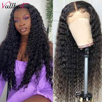 Lace Wigs Vall Hair Deep Wave Part Wig Brazilian Remy T 13*1+4*1 150 Density Pre Plucked With Baby For Woman