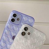 أزرار شفاف واضح الحالات الهاتف الناعمة حماية كاملة الجسم لفون 12 برو ماكس 11 XS XR 6 7 8 زائد 13 حالة الضغط