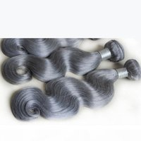 Hot Grey Weave Bundles 3pcs Wave Body Wave Virgin Virgin Human Extensions Capelli per capelli a buon mercato Bagnato e ondulato argento Grigio Treetto Top Grado Prodotti di bellezza