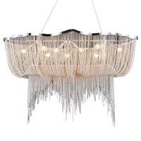 Wongshi Moderne Aluminium Kette Nordic Stil Quaste Kronleuchter Drop Lampe Kreative Restaurant Lobby Light Kronleuchter