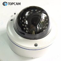 4.0 Megapixel-CMOS-IP-Kuppel-Kamera mit 2,8-12mm motorisierter varifokaler Linse Nachtversion ist 30m PoE-Unterstützung Audiokameras
