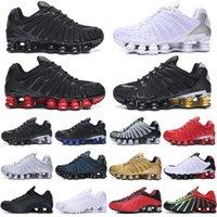 Discount TL Shox Hommes Running Shoes Des Chaussures Trains en plein air Enigma Triple Blanc Blanc Spectacle Rouge Mens Sports Sports Sports Sports