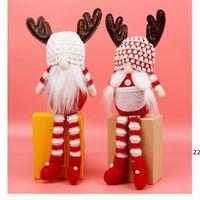 Christmas Faceless Gnome Santa Xmas Tree Hanging Ornament Doll Decoration Home Pendant Gifts Drop Ornaments Supplies HWB8976
