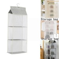 Storage Boxes & Bins Hanging Handbag Organizer Wardrobe Closet Pouch Sundry Door Hanger Transparent Clear Bag With Shoe Wa