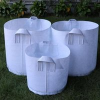10 Sizes Option Non-Woven pots Fabric Reusable Soft-Sided Highly Breathable Grow bag Planting With Handles Large Flower Planter