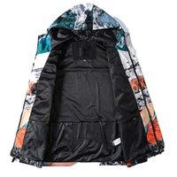 Hombres cremallera chaqueta letra impresa ropa calle hip hop estilo al aire libre contraste color top otoño primavera mantiene abrigos de moda mapa de moda INS