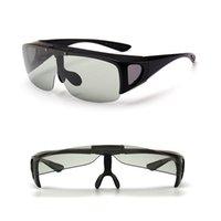 Vazrobe فليب عدسة النظارات الشمسية للرجال photochromic الرجال تناسب أكثر من النظارات الطبية القيادة نظارات قصر النظر البصري سائق T2SM