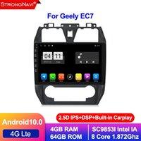 4 + 64G 안드로이드 10.0 Geely Emgrand EC7 라디오 2012 2013 멀티미디어 GPS 스테레오 네비게이션 플레이어 용 2.5D IPS 스크린 자동차 DVD