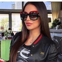 Óculos quadrados ao ar livre 2021 Moda Senhoras Senhoras óculos de sol clássico Design de marca dos óculos UV400 Grande condução de quadro
