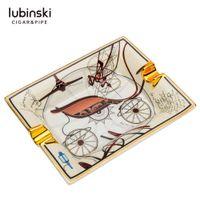 Lubinski ceramiczny tytoń dla papierosów Ashtray Holder Cigar Stand Gadget z pudełkiem