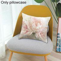 Cojín / almohada decorativa Floral Rose Estuche impreso Cojín decorativo Tirar CO COCHE COCHE 45CMX45CM Cubiertas de asiento de silla para E2B2