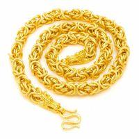Collar niños para hombre collar de cadena 18k amarillo oro relleno Hip hop pesado grueso grueso chunky gargantilla collar de moda joyería de moda 24 pulgadas 25 w2