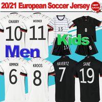 الرجال # 8 كروس # 7 havertz الرئيسية لكرة القدم جيرسي 21/22 أمة فريق ألمانيا Soccer Shirt 2021 # 11 Werner # 10 Gnabry Football Oryms Kids Kit