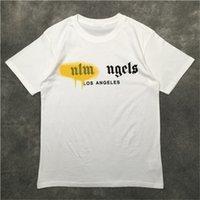 Palms Angels Mens T Shirt PA Abbigliamento Abbigliamento Brey Letter Manica Corta Primavera Summer Tide Brand Uomini e donne con lo stesso casual all-match allentato