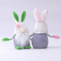 Coelhinho da Páscoa Rabbit Gnome Fallow Dolude Dola De Pelúcia Festa de Pelúcia Festa Decoração Casa Acessórios