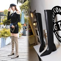 Autumn Winter Women Ankle boot top designer High Red bottom boots calfskin leather matte Pointed toe fashion Knee-high boots banquet Dress shoes